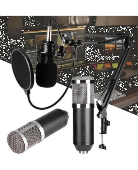 BM800 Dynamic Condenser Microphone Sound Studio KTV Singing Recording SP